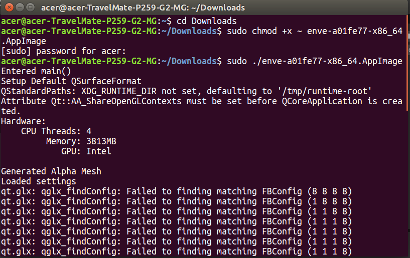 How to install enve 2d animation ubuntu